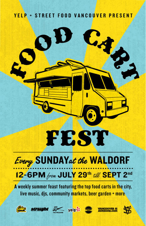 Food Cart Fest at The Waldorf – Every Sunday Starting July 29. Things to do in Vancouver: Vancouver Food Tour, Taste BC's Best Restaurants on Guided Walking Culinary Tours